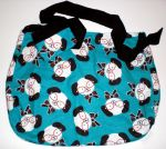 Glasses Wearing Dog Print - Hobo Style Bag by 13anana