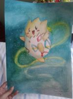 Togepi Watercolor by TheKiwiSlayer