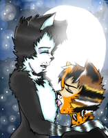 Licking in the moonlight by Toxic-dolls