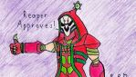 Christmas Reaper (Happy Holidays 2016) by TheRandomGirlXD