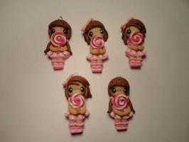FIMO : doll with lollipop by MilkyWayHandmade