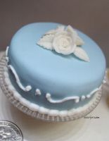 1-6 blue white rose cake by Snowfern