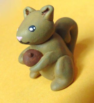 Clay Squirrel Figure by SolarCrush
