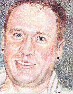 Colored pencil portrait of Travis Forden
