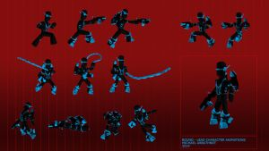 Bound Lead Character Animations by Jesterman