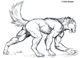 Werewolf TF by ChrisSawyerArt