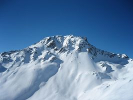Snow-covered mountain 3 by NicamShilova