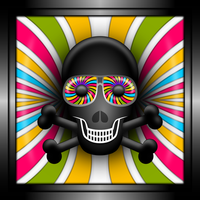 Skull With Psychedelic Shades by Viscious-Speed