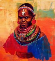 Beautiful Massai woman by SunnyArt04