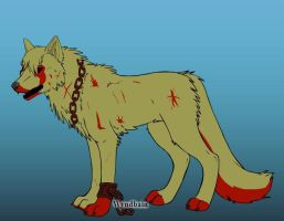 New Wolf OC- Bloody Claw by Coraline15