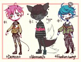 [Adoptables CLOSED] Thank you! [Halloween Batch] by ItaSlipy
