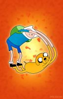 Finn and Jake Roll by entangle