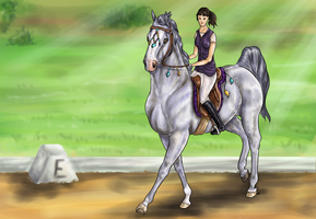 Dressage with Afra by Moeso