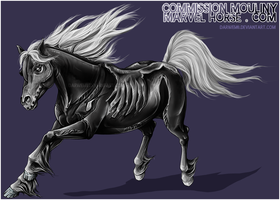 COMMISH - Marvelhorse (SPOOKY) by Darwem0