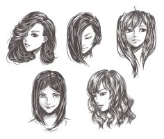 Female Headshot by BunnyKick