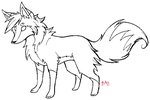 Fox Lineart Template by zurisu