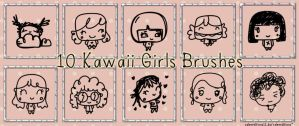 Kawaii Girls Brushes by ValenEditions11
