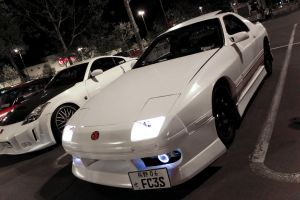 White RX7 FC by iQREATE