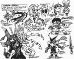 [Captain-Japan] Power of Friendship sketches by Kainsword-Kaijin