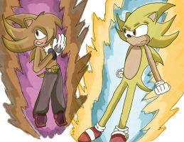 super burnout and super sonic by eagla-the-eagle