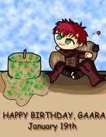 Birthday Gaara by dickiejaybird