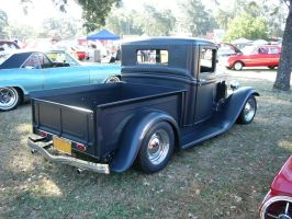 1934 Ford pickup in soft gray by RoadTripDog