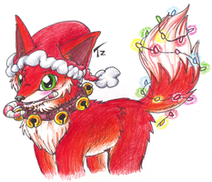 Christmas Red Fox by MotherGarchomp622
