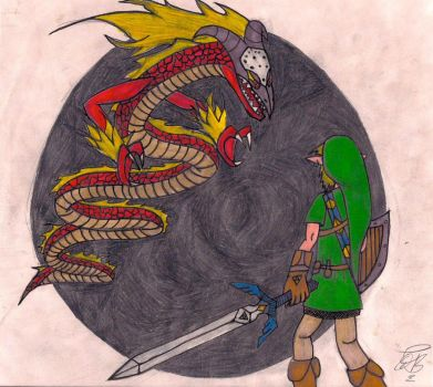 Link V.s. Volvagia by darkmaster13