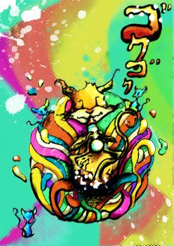Crazy Rainbow Cat by CandiceBlue