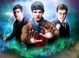 Multifandom (merlin,harry potter,percy jackson) by ektapinki
