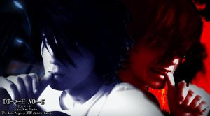 L Lawliet and Beyond Birthday (DEATH NOTE) by LionelNelson