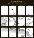 2015 Summary of Art by Lucky-Puppy