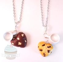 Scented best friend cookies and milk necklaces by ilikeshiniesfakery