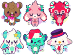 Christmas Monsters 01 [OPEN 3/6] by Miss-Glitter