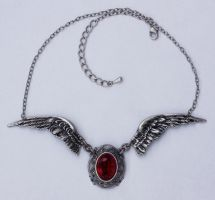 Angels wings necklace by Pinkabsinthe