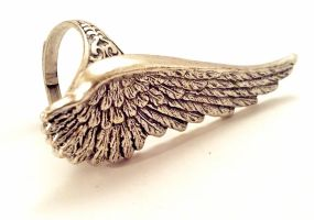Angel Wing Ring by SteamDesigns