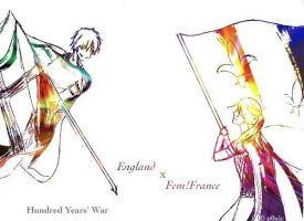 Hetalia- England x fem!France ~ Hundred Years' War by P0uic
