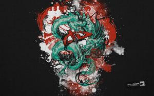 Dragon Warrior_Wallpaper by deviantWEAR