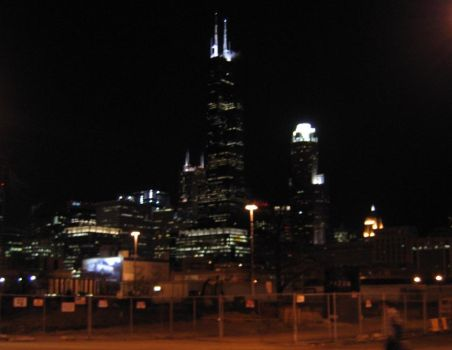Chicago at night by Take-My-Smile