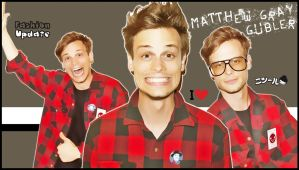 Matthew Gray Gubler background by Anthony258