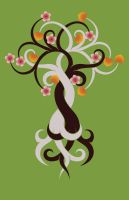 Intertwined Trees: Cherry and Aspen by VoidQueenElishiva