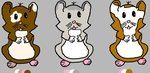 derpy hamsters: 3 points by cuteadoptables101