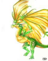 Green Dragon Wyvern by Rachet777