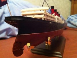 RMS Lusitania 1:350 Scale pt8 by Crystal-Eclair