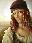 Pirate Wench by IdaLarsenArt