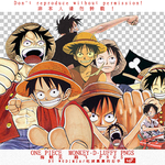 ONE PIECE  LUFFY PNGS by wudimia