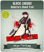 Black Lagoon: Roberta's Blood Trail - Anime Icon by Darklephise
