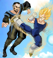 Zod VS Vegeta by Wessel
