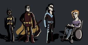 Batgirls and Robins by poly-m