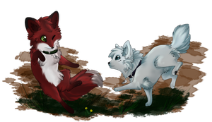 Wolf and Fox Mug Design by Lost-Wolf-Soul